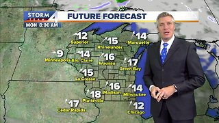 Mostly sunny, breezy and chilly Sunday