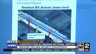 Construction underway at Reagan National Airport