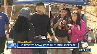 UC Regents delay vote on tuition increase - Video