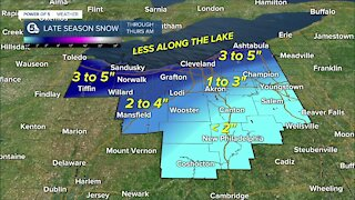 Power of 5 meteorologist Trent Magill gives an update on spring snow arriving overnight.
