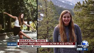 Colorado woman attacked with acid in France - Video