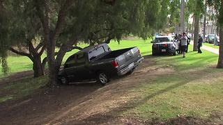 Chase ends with suspect crashing into tree - Video