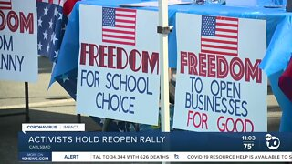 Activists hold 'Reopen Rally' in Carlsbad