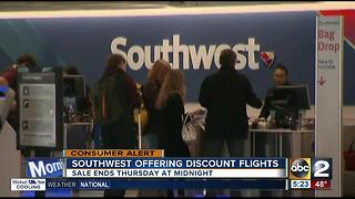 Southwest Airlines offering discount flights