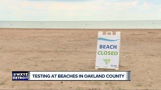 Testing beaches in Oakland County ahead of summer - Video