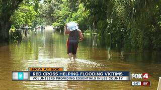 Red Cross Helping Flooding Victims