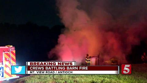 Blaze Destroys Retired Firefighter's Barn, Car In Antioch