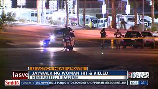Woman killed while jaywalking in Henderson