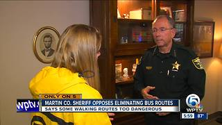 Martin County Sheriff William Snyder opposes eliminaing bus routes - Video
