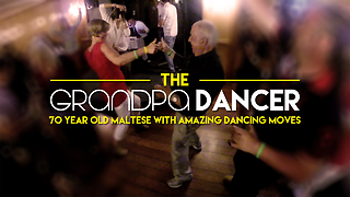 The Grandpa Dancer | 70 Year Old Man With Crazy Dancing Moves! - Video
