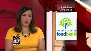 Thieves break into Greater Lansing Food Bank