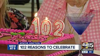 102-year-old celebrates birthday, drinks a martini a day!