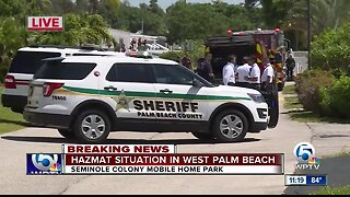 Deputies hospitalized after HAZMAT situation at Palm Beach County mobile home park