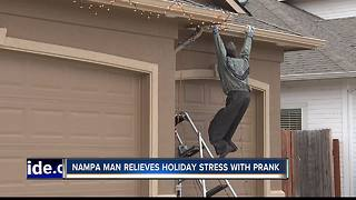 "Nampa man pranks neighbors with ""Gutterman"" holiday decoration - Video"