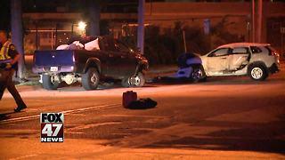 Driver suffers life-threatening injuries - Video