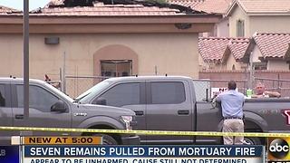 Seven remains pulled from Chandler mortuary fire earlier in January - Video