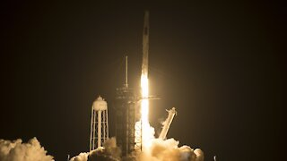 SpaceX Launches Crew Of Astronauts To Space Station