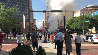 Underground Steam Pipe Explosion Injures 2 in Baltimore - Video