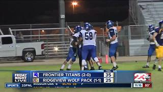 23FNL Week 3: Frontier vs. Ridgeview - Video