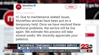 """MoviePass suspends services due to """"maintenance"""" issues"""