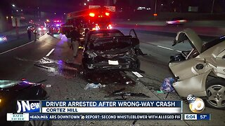 Driver arrested after wrong-way crash on I-5