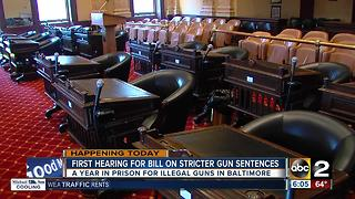 First hearing held for bill on stricter gun sentences - Video