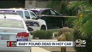 Young boy died after left in hot car in north Phoenix - Video