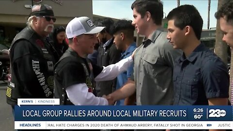 Kern's Kindness: local veterans rally around military recruits