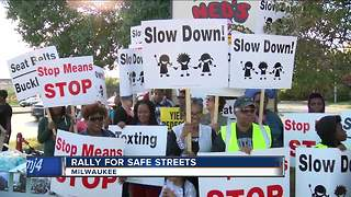Residents gathered to rally for safe streets - Video