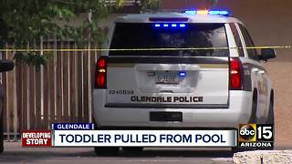 Firefighters: Toddler pulled from Glendale pool by sibling - Video