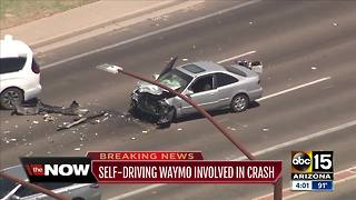 Self-driving Waymo involved in crash in Chandler - Video