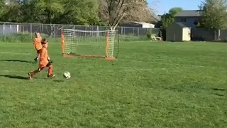 Seven-Year-old Soccer Player Shows Skill on the Field