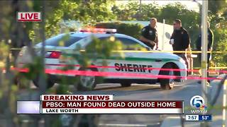 Dead body found in Lake Worth yard - Video