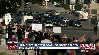 Hundreds protest in Omaha over George Floyd death