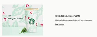 Starbucks introducing Juniper Latte - Video