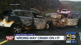 Four injured in wrong-way crash on I-17 - Video