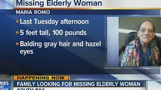 Family looking for missing elderly woman