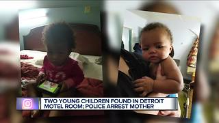 Police: Mother of two young children found in Detroit motel room arrested - Video