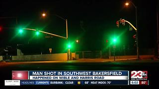 Man shot in southwest Bakersfield near Harris Rd. and Wible Rd. - Video