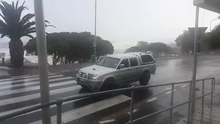 Gale-Force Winds Batter Cape Town Coast During Fatal Storm - Video