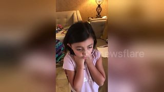 7-year-old girl gets surprise of her life with Disney World tickets - Video