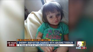 Sheriff: Babysitter charged with abusing toddler - Video
