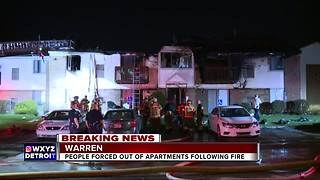 Warren apartment evacuated after large fire
