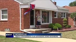 Macomb Co. man flying confederate flag says 'black people' aren't welcome - Video