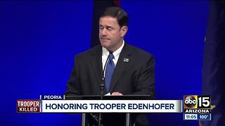 Hundreds honor fallen DPS trooper at funeral