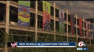 New murals in downtown Fishers - Video