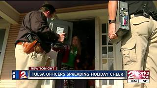 TPD officers deliver donated computers before Christmas holiday - Video