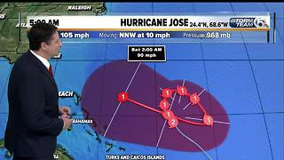 Hurricane Jose 5 a.m. advisory - Video