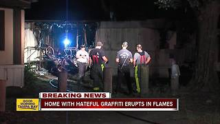 Firefighters investigating graffiti, mobile home fire off Gibsonton Rd. - Video