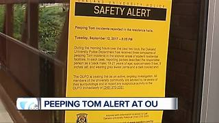 Peeping Tom alert at Oakland University - Video